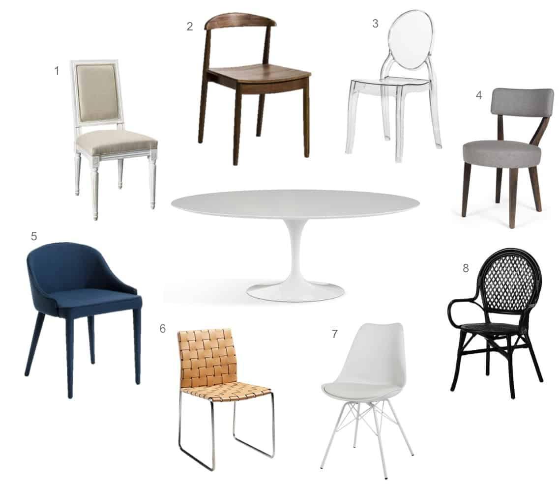 a new tulip table chair choices jane hogan designs. Black Bedroom Furniture Sets. Home Design Ideas